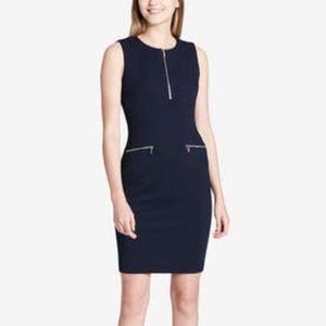 Calvin Klein Zipper-Trim Sheath Dress